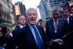 Bill Clinton with Bigfish Folding Bike and its Founder Sandi Cesko